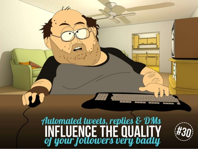Automated tweets, replies & DMs influence the quality of your audience very badly