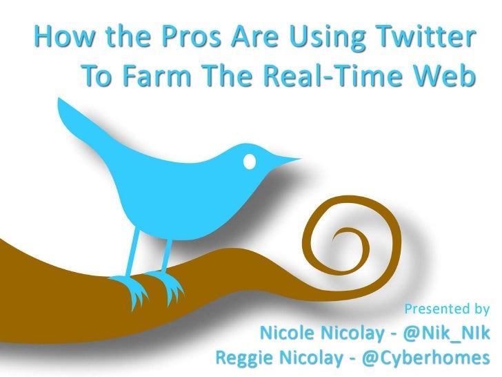 How The Pros Are Using Twitter To Farm The Real-Time Web