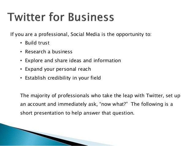 Twitter Information Management  Slide 2