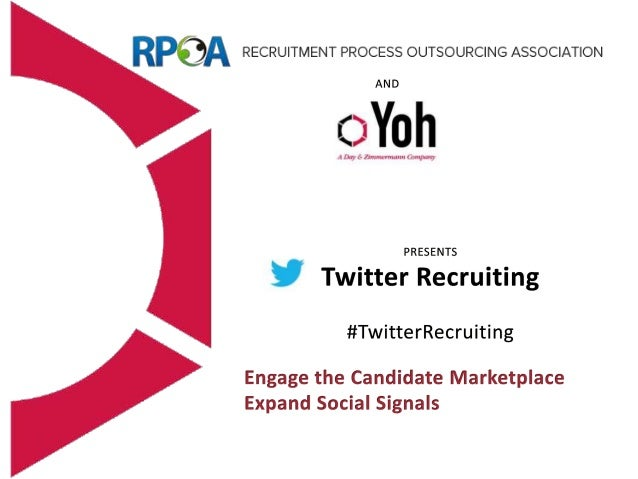 About Recruitment Process Outsourcing Association • Nonprofit 501(3) organization founded in 2005 • New Board elected in J...