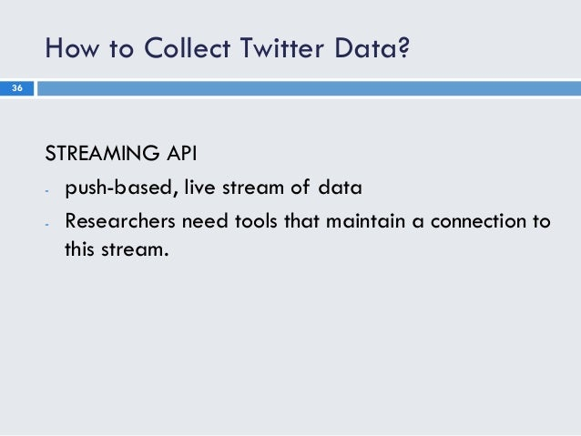 Twitter research overview