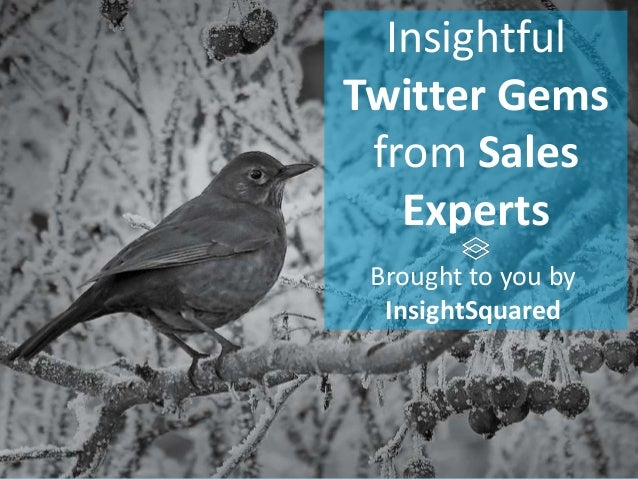 Insightful Twitter Gems from Sales Experts Brought to you by InsightSquared