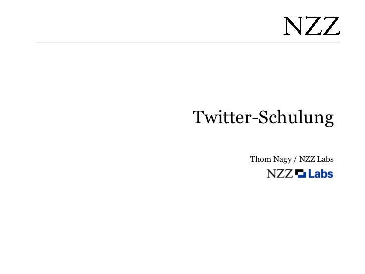 Twitter-Schulung Thom Nagy / NZZ Labs