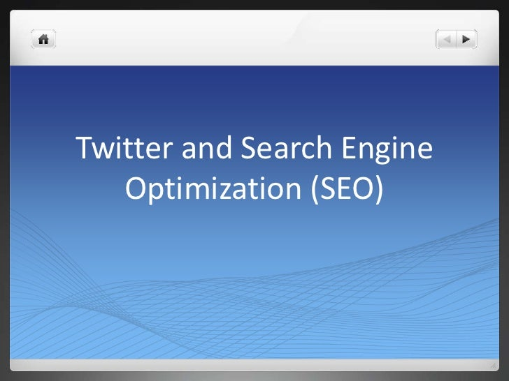 Twitter and Search Engine   Optimization (SEO)