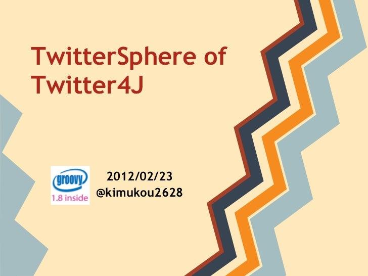 TwitterSphere ofTwitter4J       2012/02/23      @kimukou2628