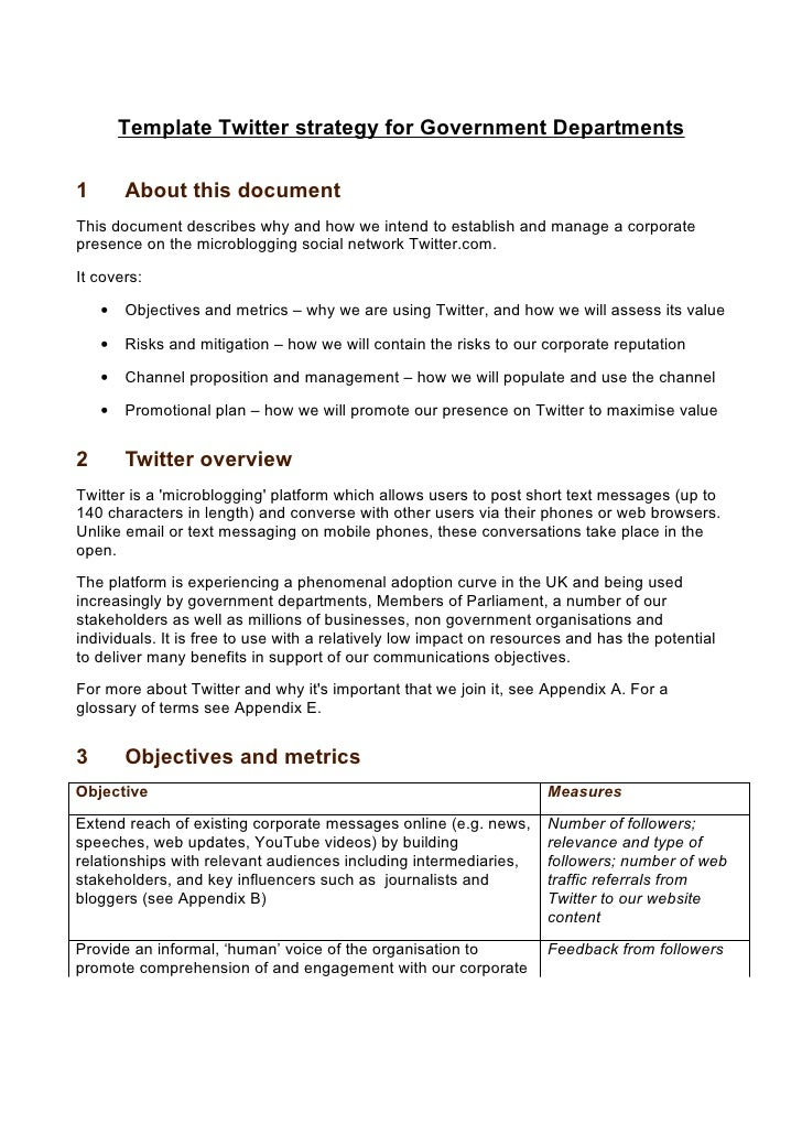 Twitter strategy for government departments