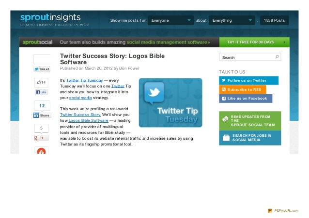 Twitter success story using daily deals