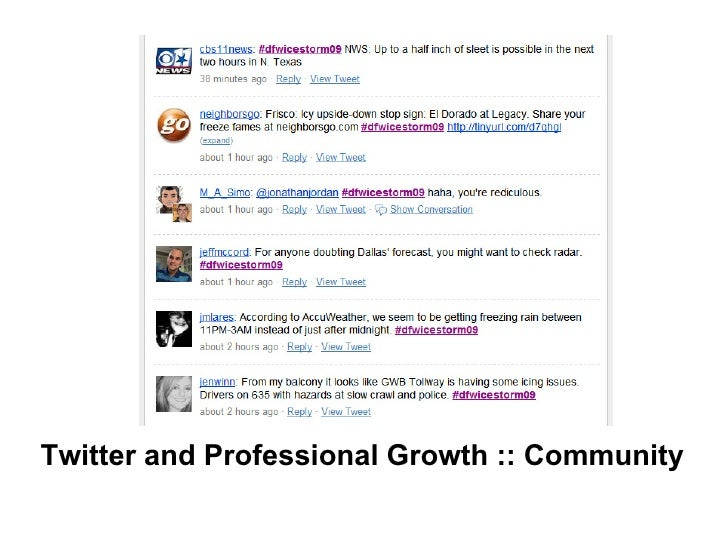 Twitter and Professional Growth :: Community