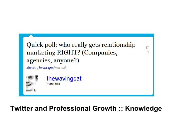 Twitter and Professional Growth :: Knowledge