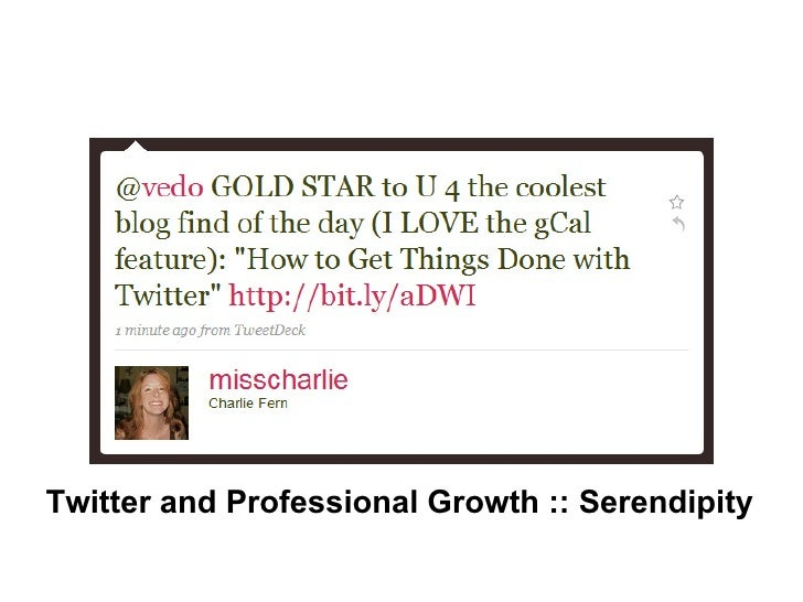 Twitter and Professional Growth :: Serendipity