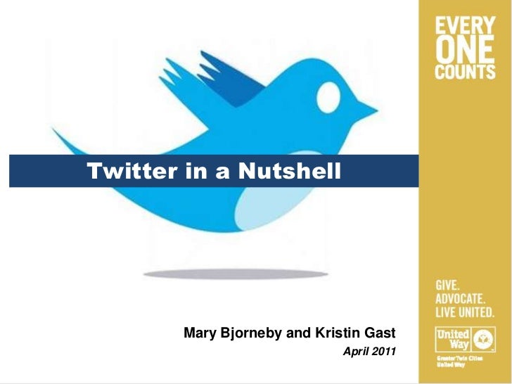 Twitter in a Nutshell<br />Mary Bjorneby and Kristin Gast<br />April 2011<br />