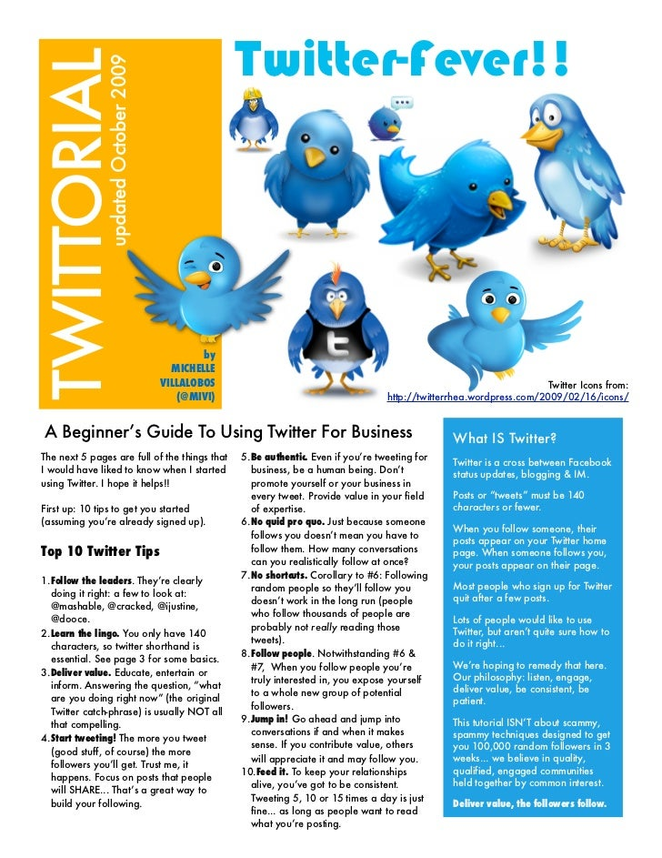 twitter-fever! TUTORIAL             April 2009                                               by                           ...