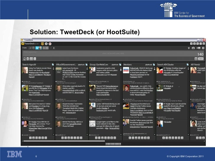 Twitter tweetdeck for DOD