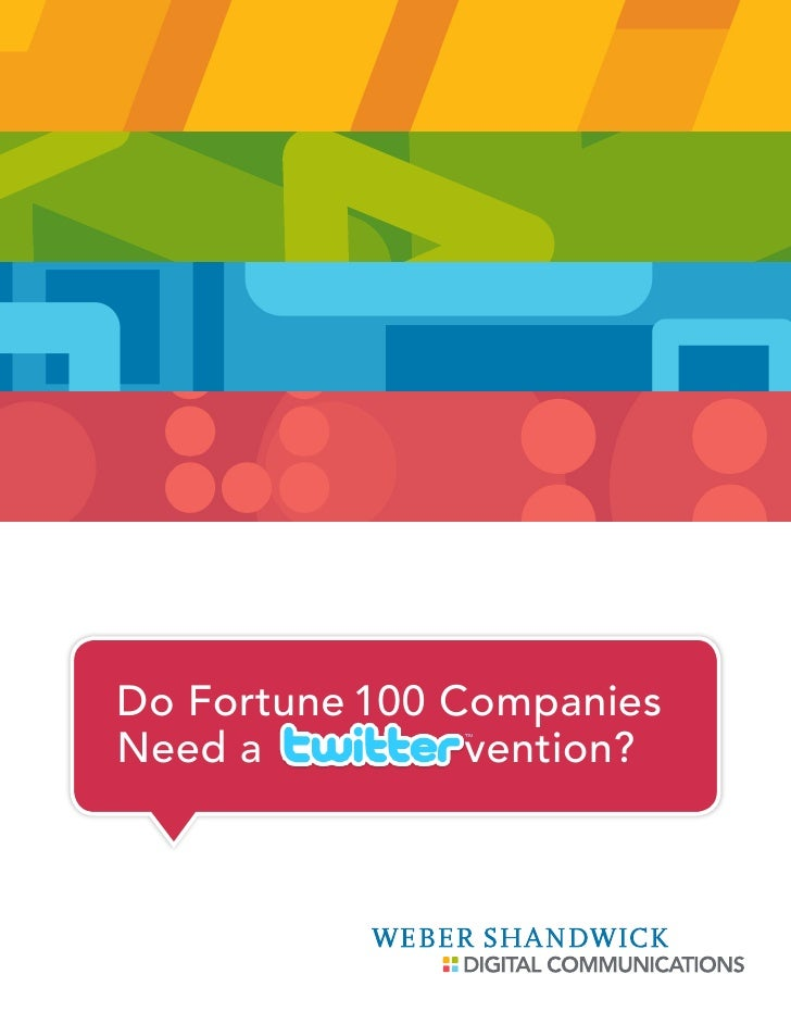 Do Fortune 100 Companies Need a          vention?