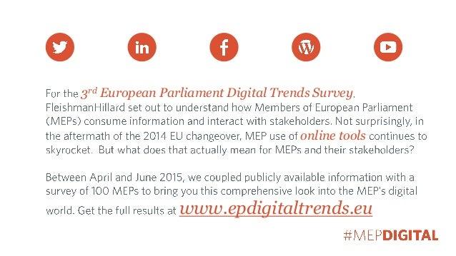 3rd European Parliament Digital Trends Survey online tools www.epdigitaltrends.eu
