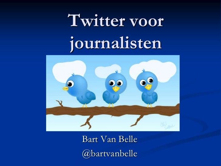Twitter voorjournalisten