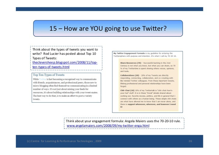 15– HowareYOUgoingtouseTwitter?      Thinkaboutthetypesoftweetsyouwantto     write?RodLucierhasposted...