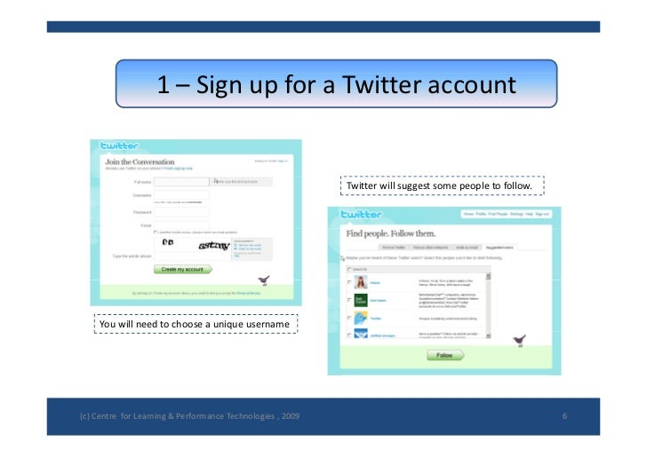 how to start up a twitter account