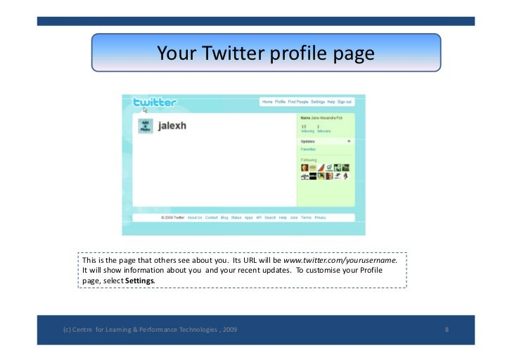 YourTwitterprofilepage                                Your Twitter profile page           Thisisthepagethatothers...