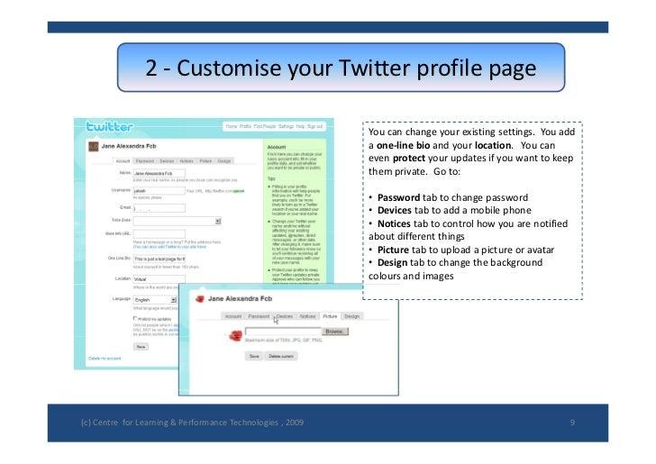 2 CustomiseyourTwitterprofilepage                 2 ‐ Customise your Twitter profile page                            ...