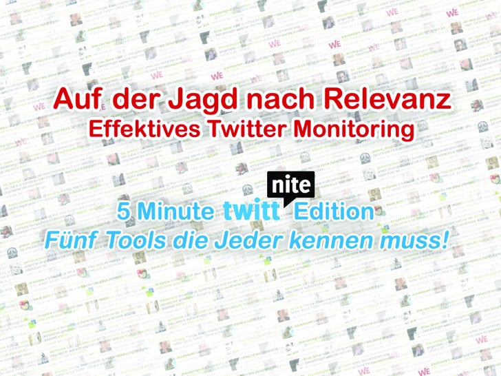 "Twittnite 5 Minute Standup ""Twitter Monitoring"""