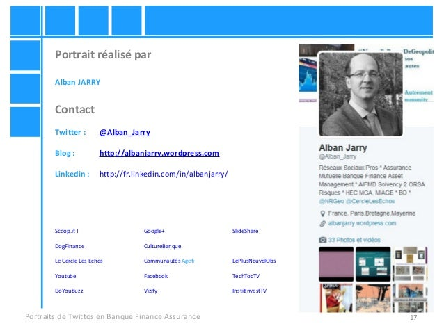 17 Portrait réalisé par Alban JARRY Contact Twitter : @Alban_Jarry Blog : http://albanjarry.wordpress.com Linkedin : http:...