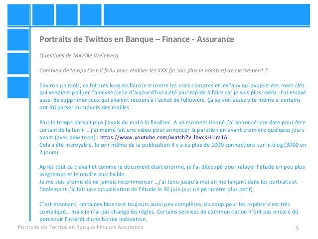 5 Portraits de Twittos en Banque – Finance - Assurance Questions de Mireille Weinberg Combien de temps t'a-t-il fallu pour...