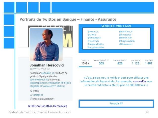 10 Portraits de Twittos en Banque – Finance - Assurance Portraits de Twittos en Banque Finance Assurance @jhersco (Jonatha...