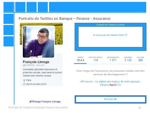 11 Portraits de Twittos en Banque – Finance - Assurance Portraits de Twittos en Banque Finance Assurance @flimoge François...