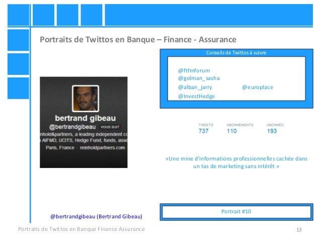 13 Portraits de Twittos en Banque – Finance - Assurance Portraits de Twittos en Banque Finance Assurance @bertrandgibeau (...
