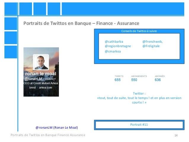 14 Portraits de Twittos en Banque – Finance - Assurance Portraits de Twittos en Banque Finance Assurance @ronanLM (Ronan L...