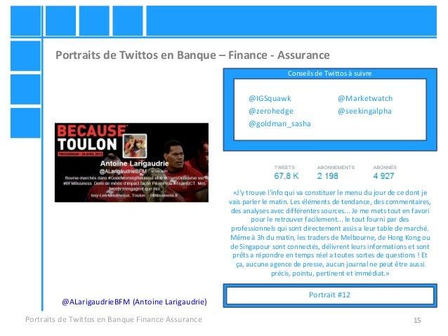 15 Portraits de Twittos en Banque – Finance - Assurance Portraits de Twittos en Banque Finance Assurance @ALarigaudrieBFM ...