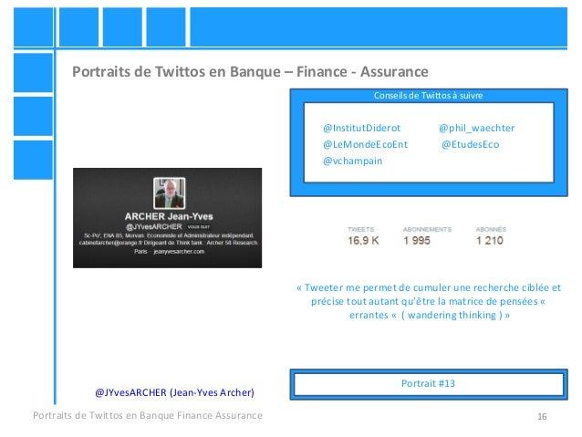 16 Portraits de Twittos en Banque – Finance - Assurance Portraits de Twittos en Banque Finance Assurance @JYvesARCHER (Jea...