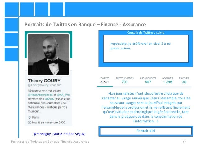 17 Portraits de Twittos en Banque – Finance - Assurance Portraits de Twittos en Banque Finance Assurance @mhseguy (Marie-H...