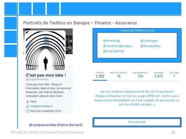 29 Portraits de Twittos en Banque – Finance - Assurance Portraits de Twittos en Banque Finance Assurance @cestpasmonidee (...