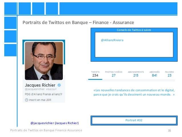 35 Portraits de Twittos en Banque – Finance - Assurance Portraits de Twittos en Banque Finance Assurance @jacquesrichier (...