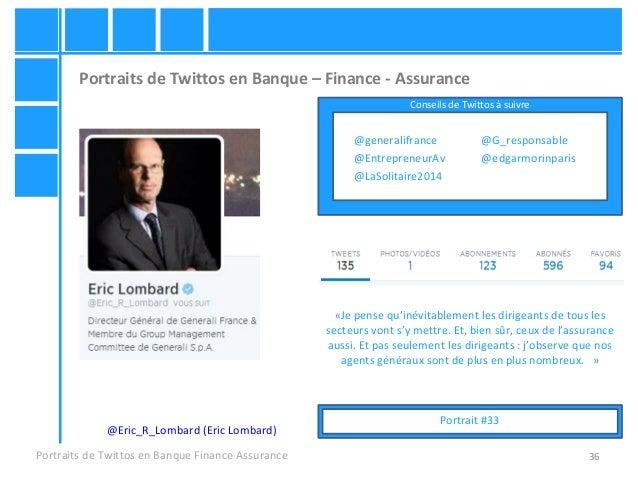 36 Portraits de Twittos en Banque – Finance - Assurance Portraits de Twittos en Banque Finance Assurance @Eric_R_Lombard (...