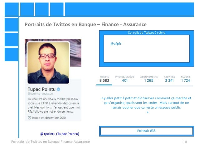 38 Portraits de Twittos en Banque – Finance - Assurance Portraits de Twittos en Banque Finance Assurance @tpointu (Tupac P...