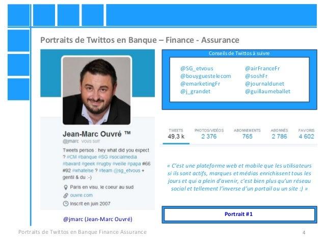 4 Portraits de Twittos en Banque – Finance - Assurance Portraits de Twittos en Banque Finance Assurance «C'estuneplatef...
