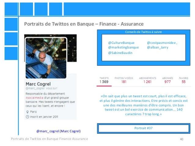 40 Portraits de Twittos en Banque – Finance - Assurance Portraits de Twittos en Banque Finance Assurance @marc_cogrel (Mar...