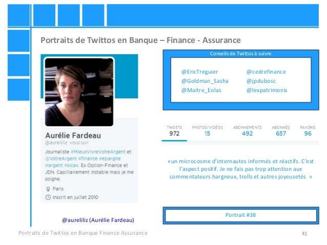 41 Portraits de Twittos en Banque – Finance - Assurance Portraits de Twittos en Banque Finance Assurance @aureliliz (Aurél...