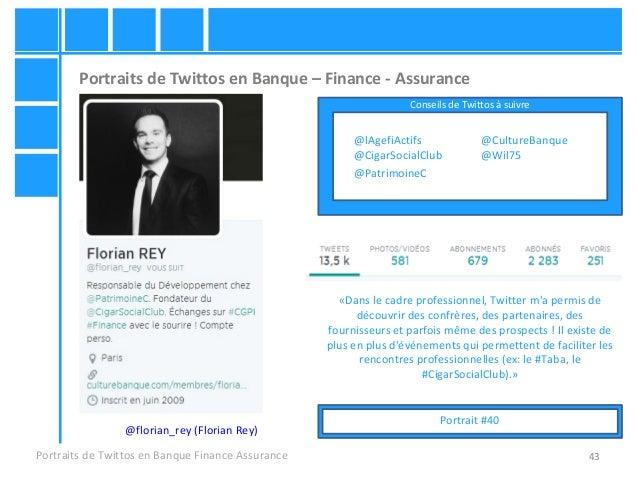 43 Portraits de Twittos en Banque – Finance - Assurance Portraits de Twittos en Banque Finance Assurance @florian_rey (Flo...