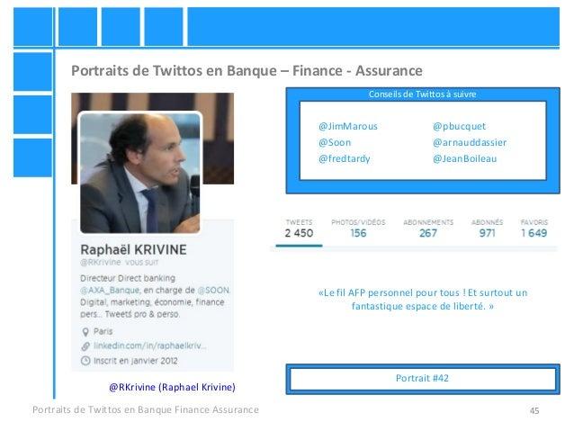 45 Portraits de Twittos en Banque – Finance - Assurance Portraits de Twittos en Banque Finance Assurance @RKrivine (Raphae...