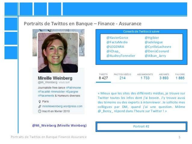 5 Portraits de Twittos en Banque – Finance - Assurance Portraits de Twittos en Banque Finance Assurance « Mieux que les si...