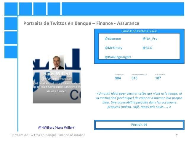 7 Portraits de Twittos en Banque – Finance - Assurance Portraits de Twittos en Banque Finance Assurance @HWillert (Hans Wi...