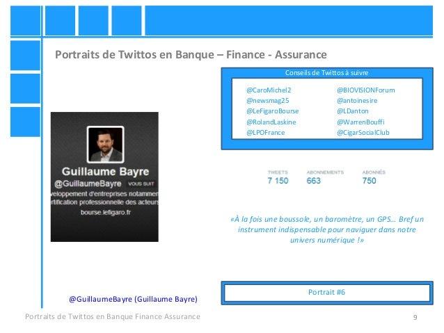 9 Portraits de Twittos en Banque – Finance - Assurance Portraits de Twittos en Banque Finance Assurance @GuillaumeBayre (G...