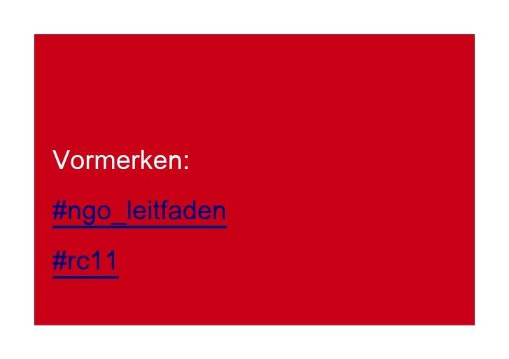 Vormerken: #ngo_leitfaden #rc11
