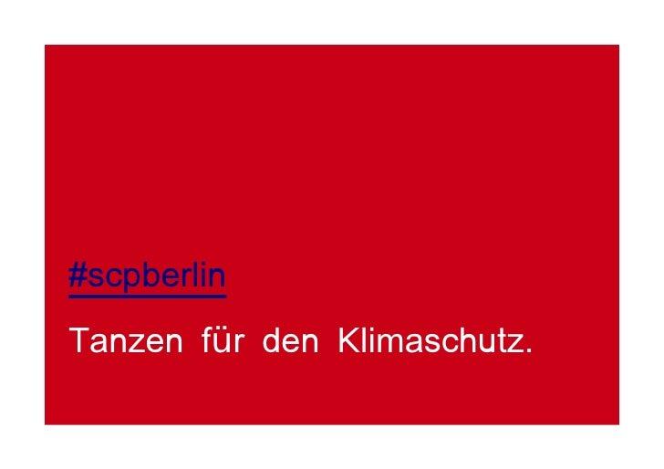 #scpberlin Tanzen für den Klimaschutz.