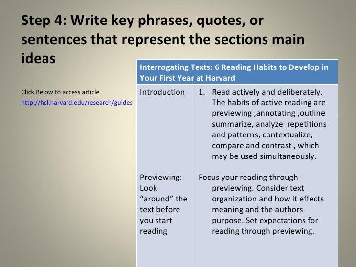 characteristics of column writing