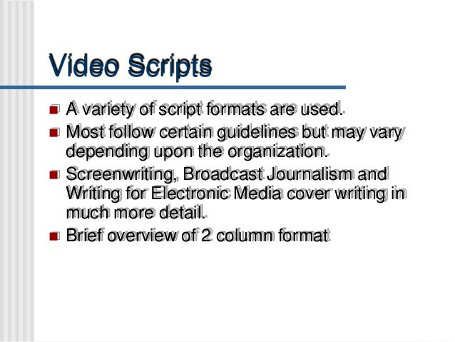 example of two column script